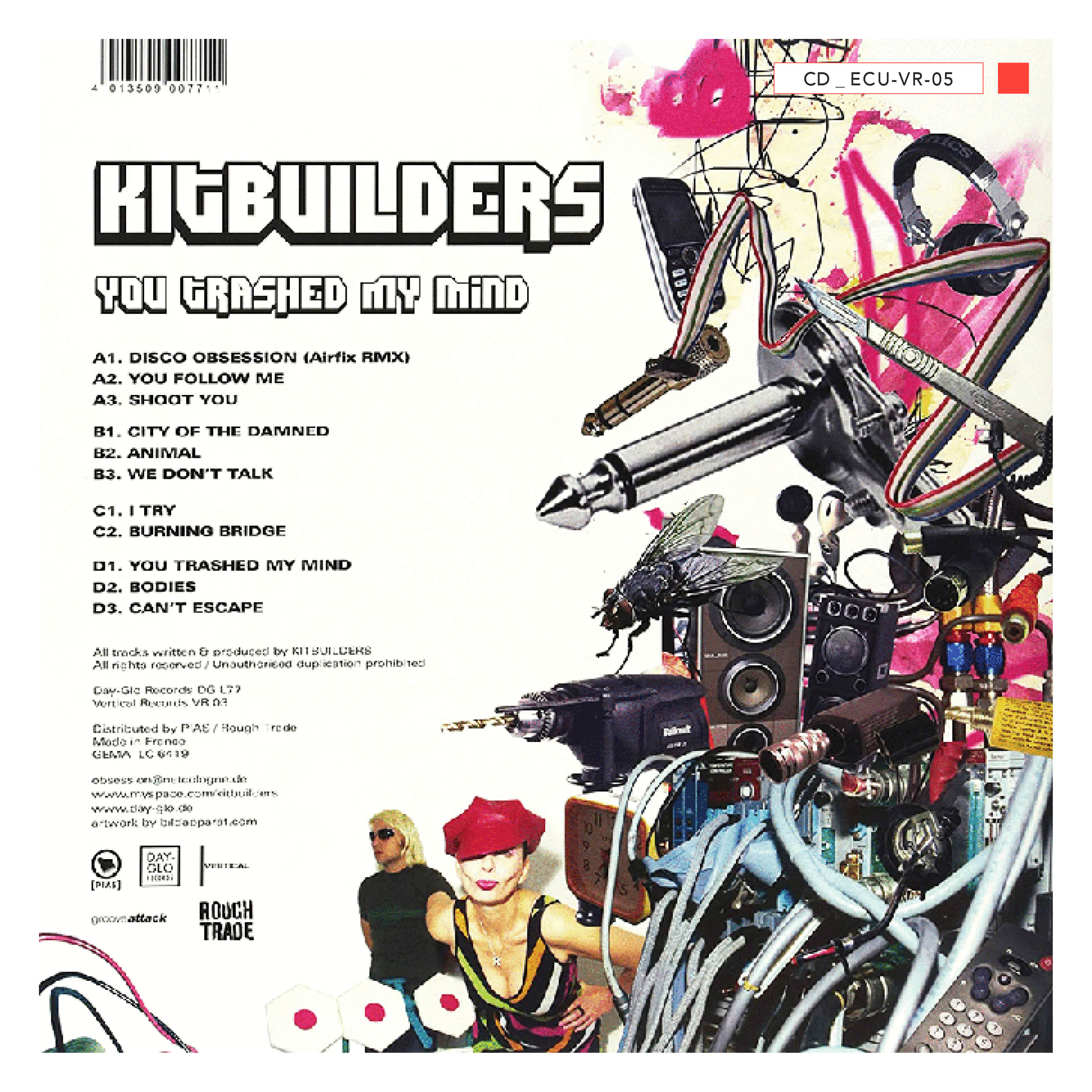 CD - ECU-VR-05 - Kitbuilders -  You Trashed My Mind - 2010